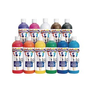 Colorations® Simply Washable Tempera Paint - 16 oz. Set of 11 Colors