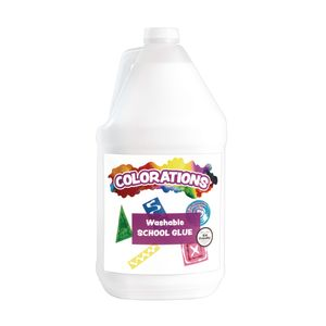 Colorations® Washable White School Glue - 1 Gallon