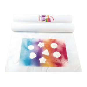 """Colorations® Repositionable Crystal Clear Cover - 18"""" x 65 Feet"""