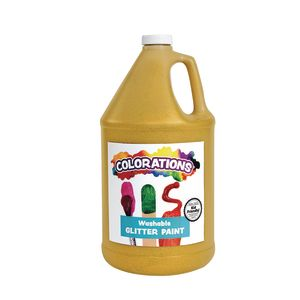 Colorations® Washable Glitter Paint, Gold - 1 Gallon