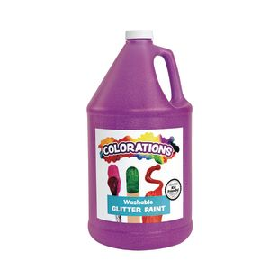 Colorations® Washable Glitter Paint, Purple - 1 Gallon