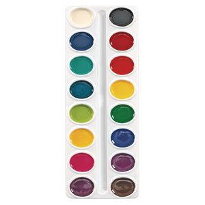 Colorations® Best Value Washable Watercolor Paints Refill, 16 Colors