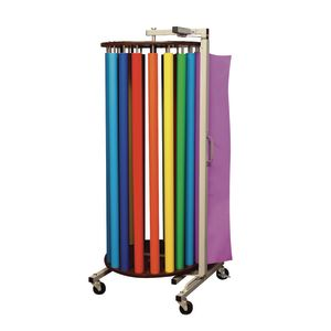 Fadeless® Paper Rotary Rack With 20 Paper Rolls