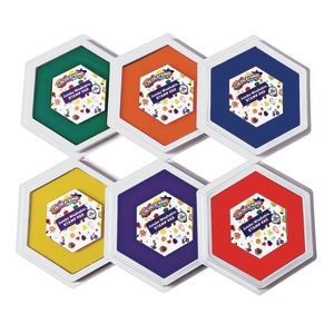 Colorations® Classic Colors Jumbo Washable Stamp Pads - Set of 6