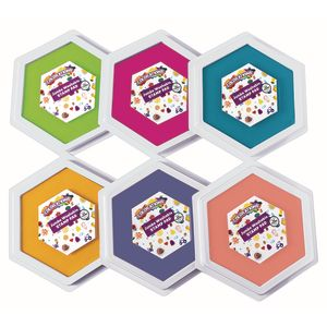 Colorations® Candy Colors Jumbo Washable Stamp Pads - Set of 6