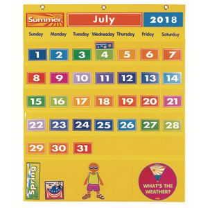 Excellerations® Classroom Calendar & Weather Pocket Chart