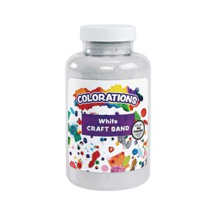Colorations® Colorful Craft Sand, White - 22 oz.