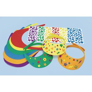 Colorations® Fun Foam Visors Craft Kit, Set of 12