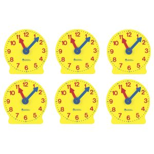 TICK TOCK STUDENT CLOCKS - SET OF 6