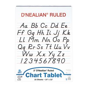 D'Nealian Chart Tablet - 25 Sheets