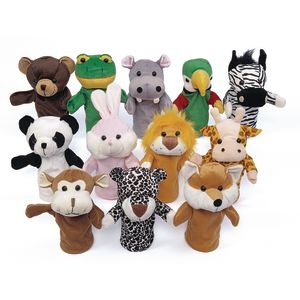 Excellerations® Animal Hand Puppets - Set of 12