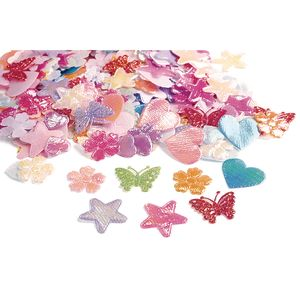 Colorations® Iridescent Fabric Shapes - 500 Pieces