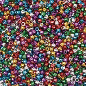 Colorations® Metallic Pony Beads - 1 lb.