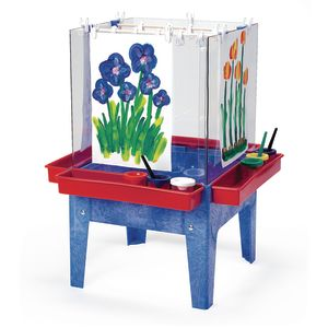 Toddler Indoor-Outdoor 4-Way Space Saver Painting Easel