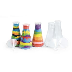 Colorations® Super Sand Art Bottles & Funnels - Set of 12
