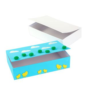 Colorations® White Cardboard Pencil Boxes - Set of 12