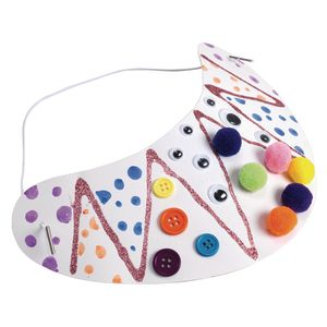 Colorations® Decorate Your Own Visors - Set of 24