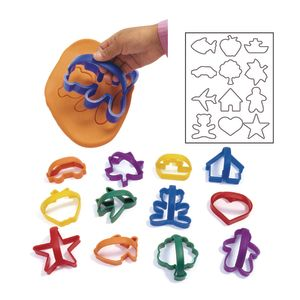 Colorations® Easy-Grip Dough Cutters - Set of 12