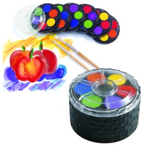 Colorations® Classroom Watercolor Paint Compacts - Set of 6 Trays