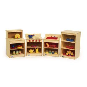 Toddler Wood Kitchen - 4 Piece Set