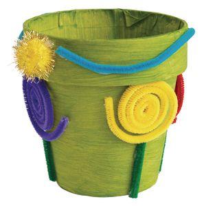 Colorations® Decorate your Own Paper Mache Flowerpots - Set of 12