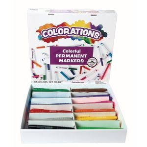 Colorations® Permanent Marker Classroom Pack - 84 Pieces