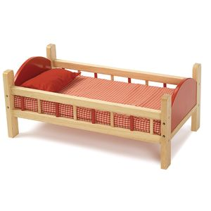 Wooden Doll Bed - 21-3/4