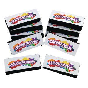 Colorations® Dual Use Dry Erase/Chalkboard Eraser - Set of 10