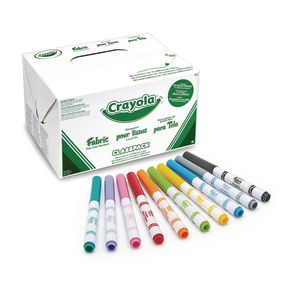 Crayola® Fine Line Fabric Markers Classpack® - Set of 80