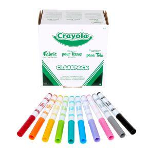 Crayola® Fine Line Fabric Markers Classpack® - Set of 80