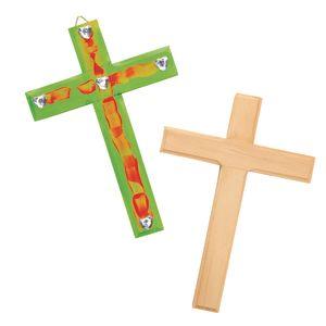 Hanging Wooden Crosses - Set of 12