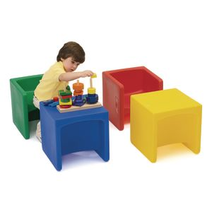 Cube Chairs - Set of 4 Assorted Colors