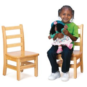 "14"" Assembled KYDZLadderback Chairs™ - Set of 2"
