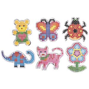 Colorations® Fun Fuse Bead Pegboard Shapes - Set of 12