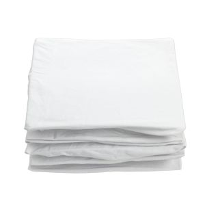 White 100% Cotton Crib Sheets - Set of 6