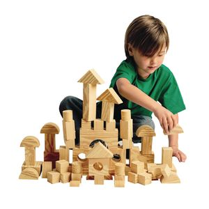 Foam Wooden Blocks - Set of 80