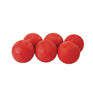 "5"" Red Best Quality Rubber Playground Balls - Set of 6"