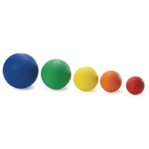 Assorted Best Quality Rubber Playground Balls - Set of 5