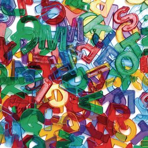 Colorations® Letter Jewels - 260 Pieces