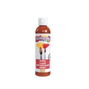 Colorations Glitter Liquid Watercolor™, Orange - 8 oz.