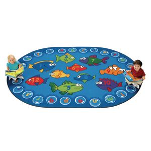 "Fishing for Literacy - 3'10"" x 5'5"" Oval"
