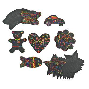 Colorations® Scratch Designs Shapes - Set of 98