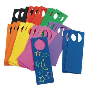 Colorations® Foam Door Hangers - Set of 24