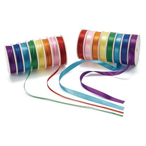 Colorations® Satin Ribbon, 400 Feet - 16 Spools