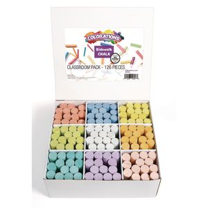 Colorations® Sidewalk Chalk Classroom Pack - Set of 126
