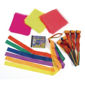 Musical Scarves Movement Set - 19 Pieces