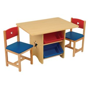 Star Table and Chair Set with Bins