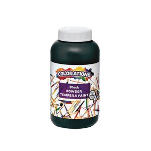 Colorations® Powder Tempera, Black - 1 lb.