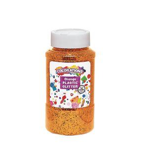 Colorations® Extra-Safe Plastic Glitter, Orange - 1 lb.