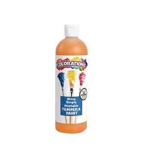 Colorations® Simply Shiny Washable Tempera, Orange - 16 oz.